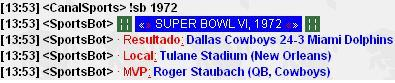 Super Bowl VI (Canal #Sports)